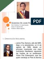 Gobierno de Jaime Paz Zaamora