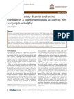 Generalized Anxiety Disorder and Online Intelligence