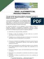 Retroalimentación FORO UNIDAD I ALISTAMIENTO DEL PROCESO FORMATIVO