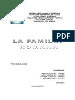 La Familia Romana Prof Manuel Gasia