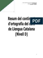 Resum-Ortografia Nivell D