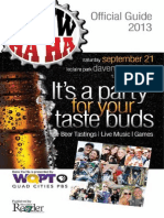 2013 WQPT Brew Ha Ha Guide - Published by the River Cities' Reader