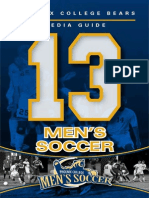 2013 Men's Soccer Media Guide