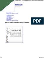 How to Calculate Materials in Concrete Foundation. BuildingContractorSecrets