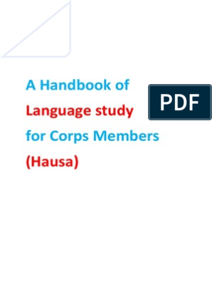 Hausa Language Study(NYSC) | Languages