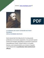 LE SERMON DE SAINT L�ONARD DE PORT-MAURICE