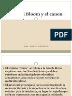 Harold Bloom y El Canon