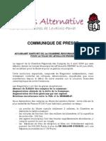 """Un communiqué du PS sur le rapport """"accablant"""" de la cour des comptes sur la gestion de Levallois-Perret"""