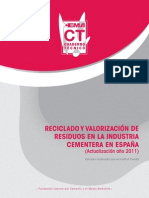 Reciclado y valoración de cementos