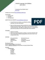 webb syllabus