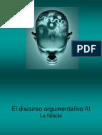 El Discurso Argumentativo III La Falacia