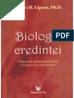 biologia credintei