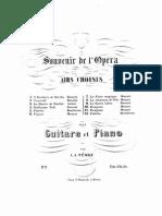 Souvenir de l'Opera No 10, Pour Piano Et Guitarre