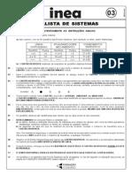Analista de Sistemas - InEA - 2008 - Cesgranrio
