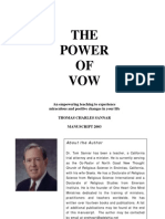 SPIRITUALITY - Power of Vow- Rev. Tom Sannar