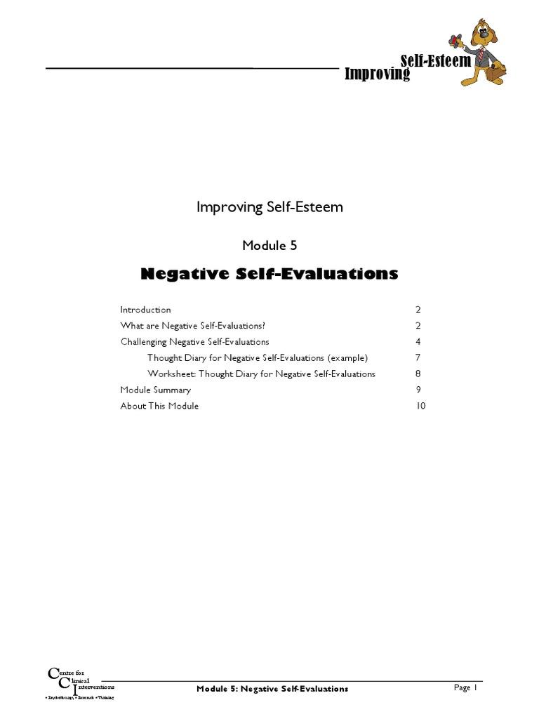 Improving Self Esteem Module 5 Of 9 Cognitive Behavioral Therapy
