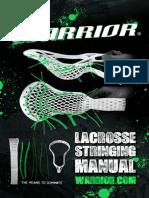WARRIOR Lacrosse Stringing Manuel