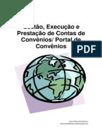 Gestão Execução e Prestação de Contas de Convênios SICONV