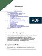 Internal Control Concepts