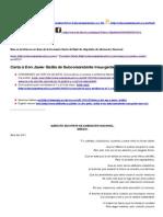 Carta a Don Javier Sicilia de Subcomandante Insurgente Marcos. « Enlace Zapatista