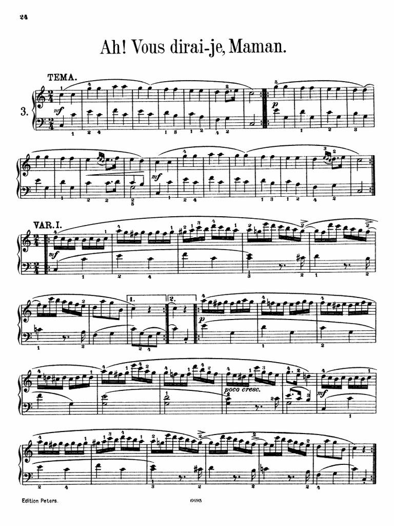 Mozart twinkle twinkle little star 12 variationspdf hexwebz Choice Image