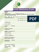 Elite Convent Admission Form