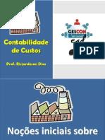 Aula 01 - Contabilidade de Custos - Conceitos e Terminologias - GESCON EAD