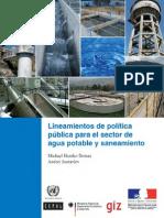 Lineamientos de Politica Publica Para El Sector de Agua Potable y Saneamiento