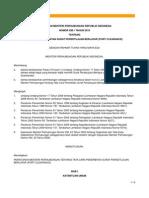 PERMENHUB No. KM 1 Thn 2010 Tata Cara Penerbitan Surat Persetujuan Berlayar (Port Clearance )