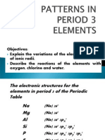 2. Patterns in Period 3 Elements