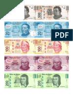 Dinero Pesos Mexicanos Recortables