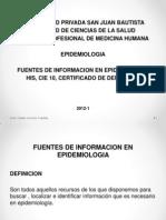 Clase Fuentes de Informacion His Cie 10 Cert Defuncion Epi 2012 1