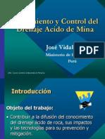 Tratamiento y control deL drenaje acido de mina - JOSE VIDALON.pptx