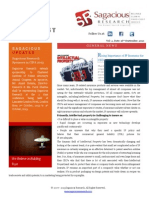 Sagacious Research Newsletter 16th Sep 2013