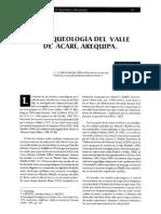 Lidio Valdez - La arqueologia del valle de Acarí, Arequipa.