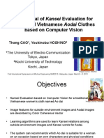 Kansei Evaluation for Traditional Vietnamese Aodai Clothes based on Computer Vision, Presentation on ISAE2013