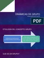 Dinámicas de grupo (que es un grupo)