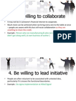 Be Willing to Collaborate