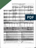 TABLAS DE PRECIOS - Rolemaster - Manual de Personajes y Campañas
