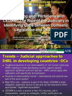 Role of Judiciary Gaps Between Domestic Legislation and CEDAW