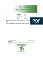 Oil-in-Water Microemulsion Cleaner - 205