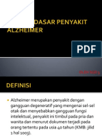 Konsep Dasar Penyakit Alzheimer