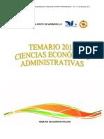 TEMARIO CIENCIAS ECONOMICO