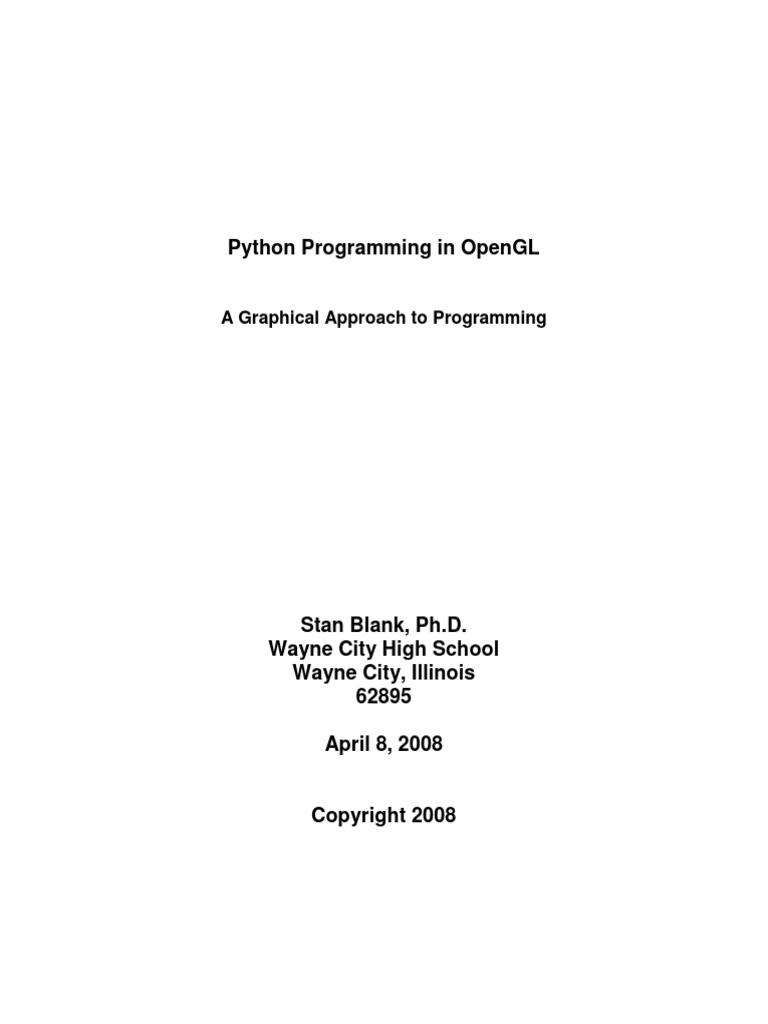 PyOpenGL | Python (Programming Language) | Command Line Interface