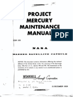 NASA Project Mercury Maintenance Manual - 1959