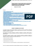 Normativ pentru proiectarea si executarea instalatiilor de semnalizare a incendiilor
