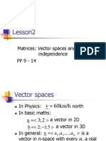 Lesson 2 Vector Spaces