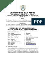 Silabo de Ps. Personalidad - 2013 - 2