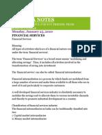 Financial Services Notes