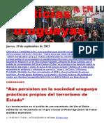 Noticias Uruguayas Jueves 19 de Setiembre Del 2013